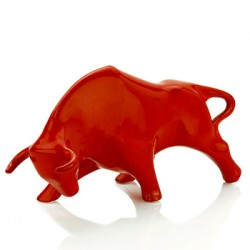Bull sculpture medium