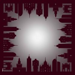 Foulard Milano Skyline