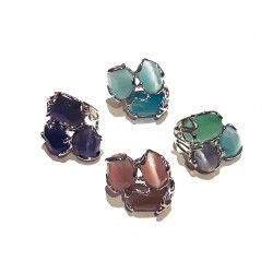 Faceted Stones Ring